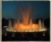 The magic fountain by the Montjuic Palace in Barcelona